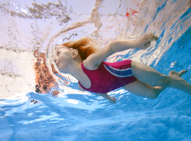 Child Swimming in Northamptonshire
